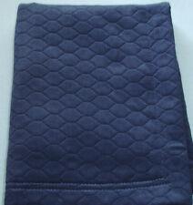 Sferra FAVO Boudoir Sham Navy Blue Egyptian Cotton Matelasse Honeycomb New
