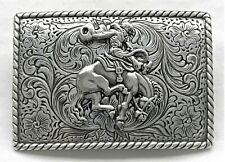 NOCONA BELT BUCKLES western accessories BUCKING BRONCO & RIDER buckle NWT in Box
