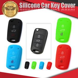 Silicone Car Key Cover Fits For HYUNDAI 3 Button i10 i20 i30 iX35 Elantra Accent