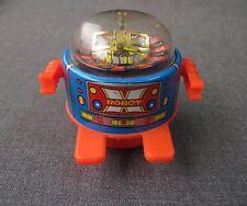 VINTAGE JAPAN TIN & PLASTIC X ROBOT FRICTION ROULETTE WHEEL