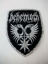"Behemoth 3"" Iron On Embroidered Patch Speed Thrash Black Heavy Metal GOTH Punk"