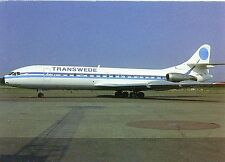 Transwede Airways Sud SE-210 Caravelle 10B3 Super B LN-BSE at Stockholm Postcard