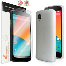 LG Google Nexus 5 Ultra Fit Flexible TPU Case / Free Matte Screen Protector