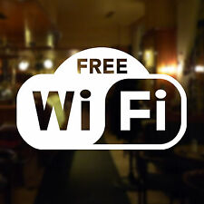 Free Wifi Shop Window Sign - Self-Adhesive Internet Hotspot Symbol for Business