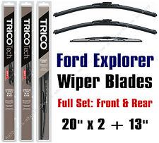 "Ford Explorer 2006-2010 Wiper Blades 3-Pk Full Set 20"" x 2 +13"" - 19200x2/30130"