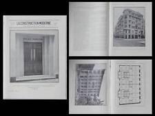 LA CONSTRUCTION MODERNE n°47 1930 NICE RICHARD LAUGIER, PALAIS MADISON, ART DECO