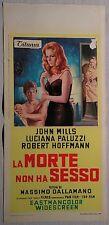 Locandina LA MORTE NON HA SESSO 1°ED.ITAL.1968 JOHN MILLS, LUCIANA PALUZZI