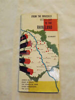VINTAGE 1957 BRUSSELS WORLD FAIR TO  RHINELAND GERMANY TOURIST BROCHURE BOOKLET