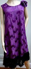 Original Silk Flapper Dress & Extra Fabric 1920's Tassel Fringe Deep Purple Plum