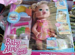 Baby Alive Snackin' Sara Blonde Doll