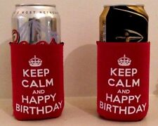 Dad Birthday Gift Keep Calm & Happy Birthday! Can/Bottle Cooler