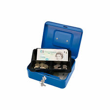 Draper Small Secure Metal Cash Box with Coin Tray, Handle & 2 Keys Home/O...