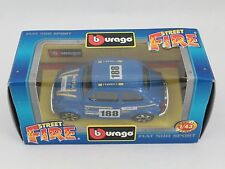 [PH3-8] BBURAGO BURAGO 1/43 STREET FIRE FIAT 500 SPORT BLU N.188 NIB