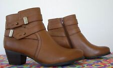 NEW*  Naturalizer  Glazed Brown  Leather  Belted  Ankle Boot    8.5M   ($139)