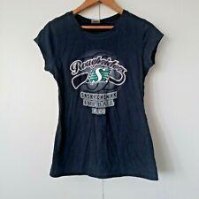 Women's Saskatchewan Roughriders Football T-Shirt Black (L) Large Tee CFL
