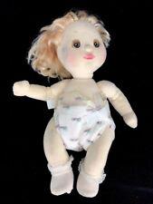 Vintage 1985 Mattel My Child Baby Doll Blonde Hair Ponytail Diaper Face Smudges