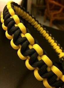 Cobra Knot Army grade Paracord Dog Collar, handmade in the USA, All Sizes