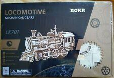 ROKR Locomotive Mechanical Gears LK701 3D Wooden Puzzle New Sealed