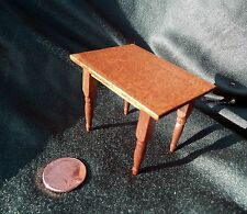 Vintage Shackman Dollhouse Miniature Cherry-wood table 12 to 1 Ratio Japan Made
