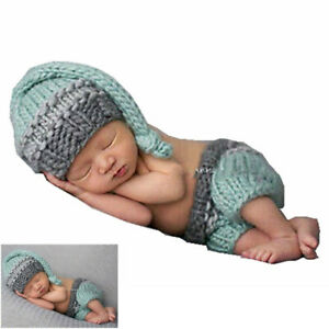 Baby Girls Newborn Boys Crochet Knit Costume Photo Photography Prop Outfits Cute