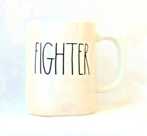 FIGHTER Rae Dunn Artisan Collection By Magenta  Coffee Mug Long Letters