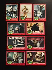 LOT-9 Star Wars Series 2 (Red)Topps 1977 Cards #71/72/73/75/77/78/79/115/123 !!!
