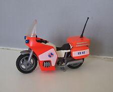PLAYMOBIL (Y4205) SAUVETEURS - Moto Orange du Coursier Paramédical 3924 Complète