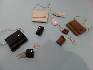 3 Purses for your Shop in Leather Dollhouse Miniatures 1:12 Gailslittlestuff