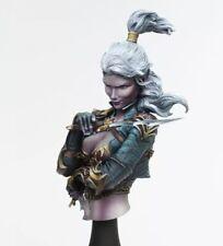 1/10 Elven Female Warrior Bust Resin Figure Model Kit Unassambled Unpainted