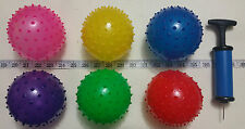 "SPECIAL* 150 Knobby Bounce Ball PUMP 6 Color 5"" Spike Pinata Party Favors"
