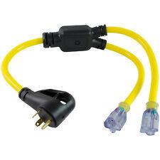 Conntek 14960 NEMA TT-30P to (2) NEMA 5-15/20R 30 Amp Generator / RV Y-Adapter
