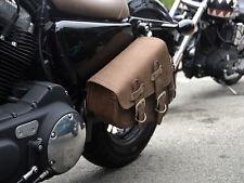 Brown Leather Swingarm Single Sided Pannier Saddle Bag Harley Davidson Sportster