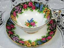 PARAGON OLD ENGLISH GARDEN WIDE MOUTH TEA CUP AND SAUCER