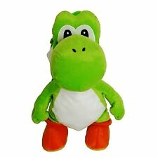 "YOSHI PLUSH BACKPACK! GREEN DINOSAUR PET SUPER MARIO BROS STUFFED BAG 18-19"" NWT"