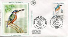 FRANCE FDC - 2724 1 OISEAU MARTIN-PECHEUR - 14 Septembre 1991 - LUXE sur soie