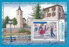 andorra 2017 andorre Folkloric dance La MASSA  church architecture ms 1v mnh **