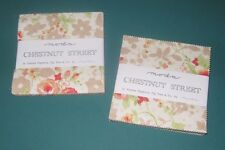 "2 Charm Packs,""CHESTNUT STREET"" by Moda, 42  5"" x 5"" per pack 100% Cotton"