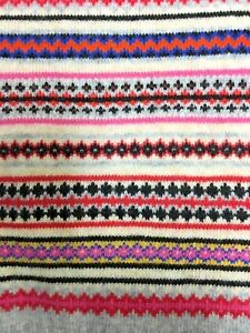NEW Gap Mens Womens Fair Isle Soft Merino Wool Blend Crazy Striped Scarf NWT