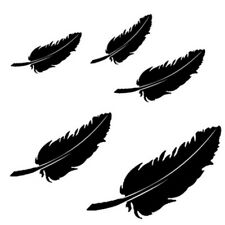 Feather Sticker Vinyl Decal Car Laptop Window Wall Bumper door glass truck Decor
