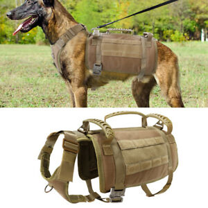 Military Tactical Dog Harness No Pull K9 Dog Working Molle Vest Training Harness