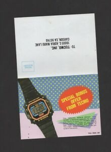 Tecmo Free Watch Offer NES TEC-NES-US INSERT ONLY Authentic