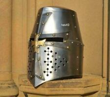 Médiévale Casque de Collection Knight Templier Crusader Costume Armor Cadeau