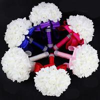 Wedding Bouquet Bridal Bridesmaid Artificial Flower Foam Silk Handmade Rose B098