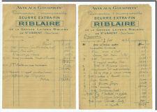 Facture - RIBLAIRE La grande laiterie de St Varent 1948