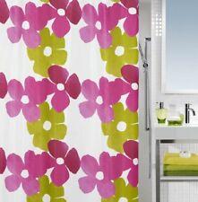 Joy Kiwi Pink Textile Shower Curtain 180 x 200 Cm. - Swiss Branded Goods