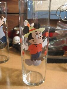 Vintage Libby Libbey Disney Minnie Mouse Glass Ice Tea Vase NICE gardening roses