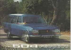 PEUGEOT 504 ESTATE BROCHURE 1972/3     UK Postfree