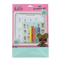 LOL SURPRISE! Queen Bee Exclusive A4 Activity Set for Girls LOL Dolls Stickers
