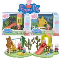 PEPPA PIG PLAYGROUND & FIGURE - PEPPA'S OUTDOOR FUN SLIDE, SEE-SAW OR SWING NEW