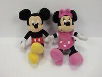 "Disney Just Play Plush Minnie & Mickey Mouse Dolls 10"" Plush Stuffed"